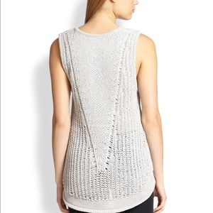 Helmut Lang Dark Gray Open Knit Tank Top Small
